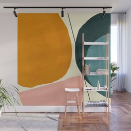 shapes geometric minimal painting abstract Wall Mural