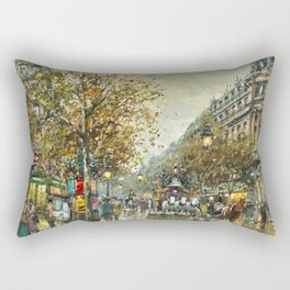 Paris, Autumn Cityscape by Antoine Blanchard Rectangular Pillow