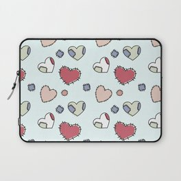 Celestial background with darned hearts Laptop Sleeve