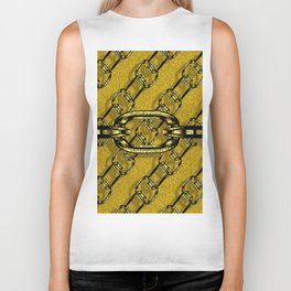 Charming shiny Chains, golden Biker Tank
