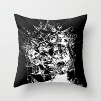 nightmare Throw Pillows featuring Nightmare by George Peters