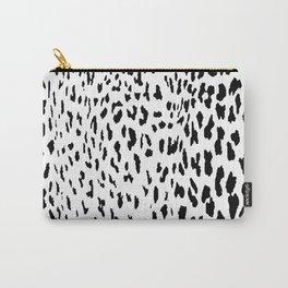 Cheetah II Black & White Animal Print Carry-All Pouch