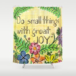 Small Joy Shower Curtain