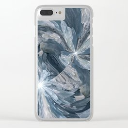 Celestite Waves Clear iPhone Case
