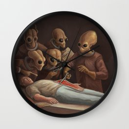 The lesson of anatomy Wall Clock