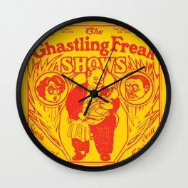 The Ghastling Freak Shows - Yellow Wall Clock