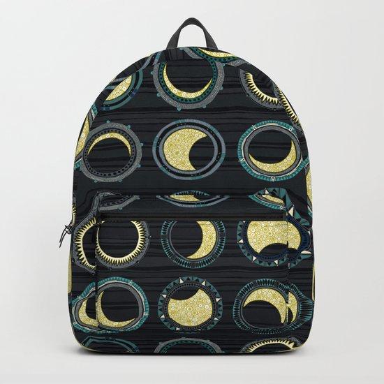 solar eclipse mandala Backpack