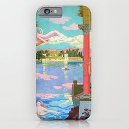 Maurice Denis - Zephyr Carries Psyche To The Island Of Bliss - Digital Remastered Edition iPhone Case