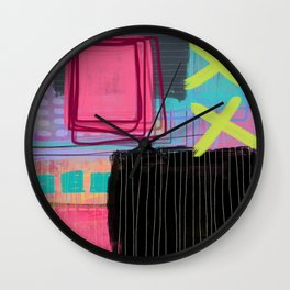 maybe I'm just like my mother - abstract painting Wall Clock