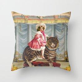 The amazing Catgirl Throw Pillow
