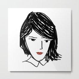 Wondering Woman Metal Print
