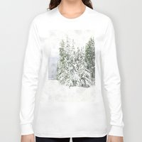 snowboarding Long Sleeve T-shirts featuring Winter Fresh by Pure Nature Photos