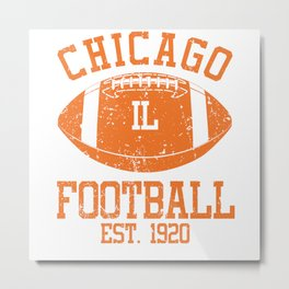 Chicago Football Fan Gift Present Idea Metal Print