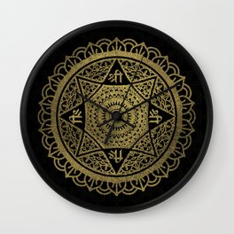 Golden  Star of Lakshmi - Ashthalakshmi  Sri Wall Clock