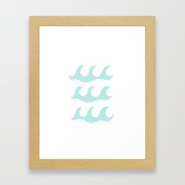 polka dot waves Framed Art Print