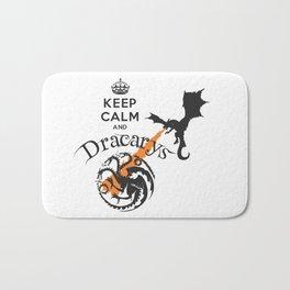 Keep Calm and Drakarys Bath Mat