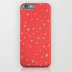 Coral Hearts iPhone 6s Slim Case