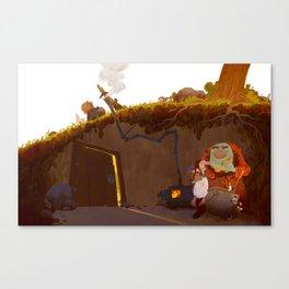 The Trolls' Cave Canvas Print