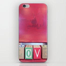 Love Red Blocks iPhone Skin