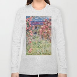 "Claude Monet ""House among the Roses"", 1917 - 1919 Long Sleeve T-shirt"