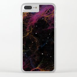Abstract Nebula K1 Clear iPhone Case