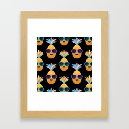 Punk Pinapples Framed Art Print