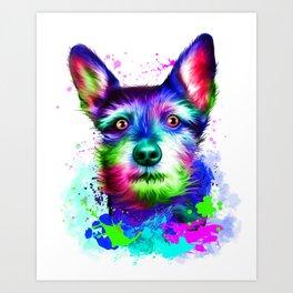 Terrier digital art Art Print