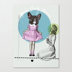 Pretty Chauncey Princess - French Bulldog Canvas Print