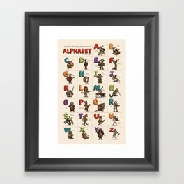 Animals & Instruments Alphabet Framed Art Print