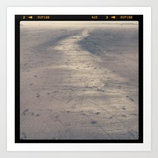 seaside sand Art Print