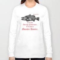 monster hunter Long Sleeve T-shirts featuring InsanitynArt's Special Barramundi Illustration Monster Hunter. by Insanity n Art. _ Nelson Philips