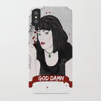mia wallace iPhone & iPod Cases featuring Pulp Fiction's Mia Wallace by dietraumfabrik_