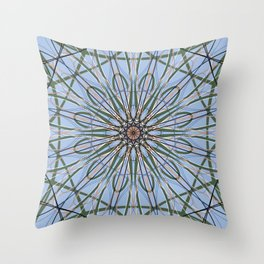 Geometric Flower, Abstract Scared Geometry Art - C15194 Throw Pillow