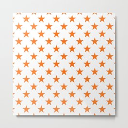 Stars Texture (Orange & White) Metal Print