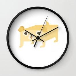 Butter dog Wall Clock