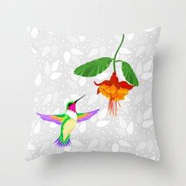 Fantasy Hummingbird #1 Throw Pillow