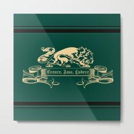 Regal Leo the Lion (Create, Love, Play) Metal Print