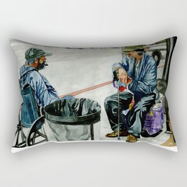 Homeless Series 2 ~ Sunset Blvd., Los Angeles, CA. Rectangular Pillow