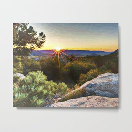 Sage Mountain Sunset Metal Print