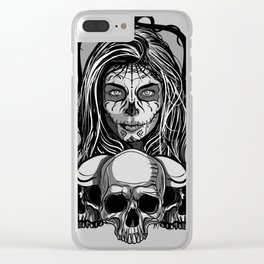 Mexican skull 2 Clear iPhone Case