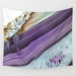 Purple Agate Slice Wall Tapestry