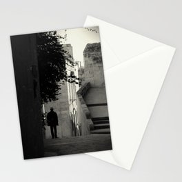 ...a man with a white hat Stationery Cards