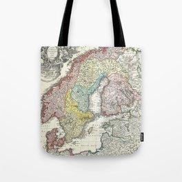 Vintage Map of Scandinavia (1730)  Tote Bag