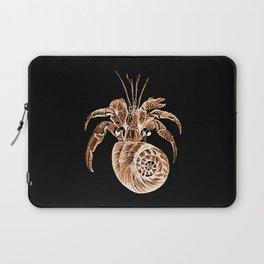 Fish coastal nautical in black background Laptop Sleeve