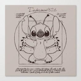 Stitch vitruvien Canvas Print