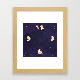Cosmic Egg Clock Framed Art Print