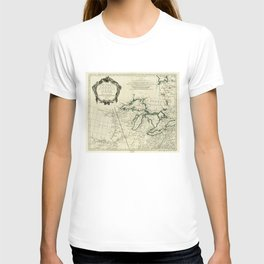 Map of the Great Lakes Region, North America (1784) T-shirt