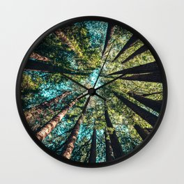 Treetop green blue Wall Clock