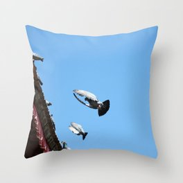 all day long Throw Pillow