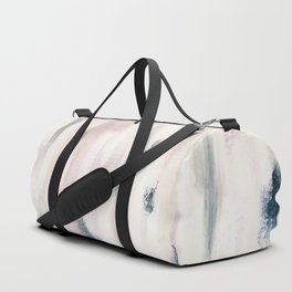 Blush Pink and Blue Pretty Abstract Duffle Bag